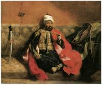 Turk Seated on Sofa and Smoking by Delacroix