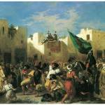 """Fanatics of Tangier by Eugene Delacroix"" by ArtLoversOnline"
