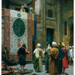 """The Carpet Merchant by Jean-Leon Gerome"" by ArtLoversOnline"