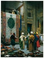 The Carpet Merchant by Jean-Leon Gerome