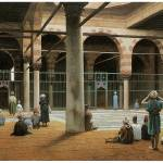 """Interior of a Mosque by Jean-Leon Gerome"" by ArtLoversOnline"
