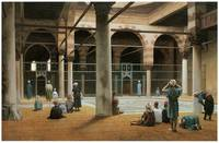 Interior of a Mosque by Jean-Leon Gerome