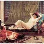 """New Attraction in the Harem by Frederick Goodall"" by ArtLoversOnline"