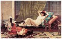 New Attraction in the Harem by Frederick Goodall