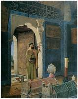 Old Man in Front of Child's Tomb by Hamdy-Bey