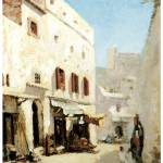 """A Street in Algiers by Albert Lebourg"" by ArtLoversOnline"