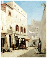 A Street in Algiers by Albert Lebourg