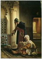 Arabs at Prayer by Jean Lecomte de Nouy