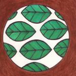"""""""Graphic Design Leaves Inside Circle"""" by pbrdesignsandart"""