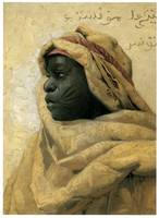 Portrait of a Nubian by Peder Monsted