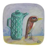 Bird with Green Jug