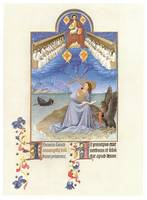 St. John on Patmos by the Limbourg Brothers