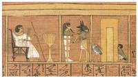 Deceased Mortal Ani Attended by God Anubis