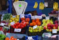 vegetable stall 1  Dobrich Bulgaria