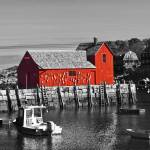 """Rockport Motif Number 1 - BW"" by FordLou"