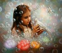 Soap bubble girl - Yoo, Choong-Yeul