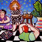 """""""Yoga Divas"""" by reniebritenbucher"""
