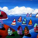 """""""Sunny Day Sail"""" by reniebritenbucher"""