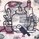 """Bird & Tea Set"" by FaneFlaws"