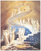 Jacob's Ladder (detail) by William Blake