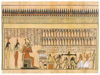 Osiris Witnessing the Weighing of the Heart of Hor