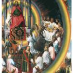 """God Enthroned by Hans Memling"" by ArtLoversOnline"