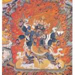 """The Winged Chechog Heruka Embracing Consort"" by ArtLoversOnline"