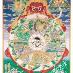 """Buddhist Wheel of Life held by Yama, Lord of Death"" by ArtLoversOnline"