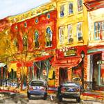 """Landscape Painting of Lee, MA"" by schulmanart"