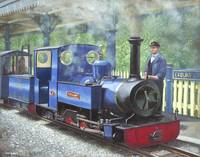 exbury steam locomotive with driver