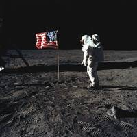 Buzz Aldrin during Moonwalk, Apollo 11, 1969