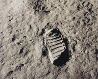 Buzz Aldrin's Boot Print, Apollo 11, 1969