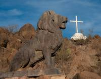 San Xavier Lion and Cross 2