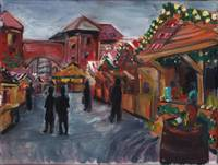 Daily Painting: Munich ST Christmas Market