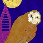 """Owl in the Moon"" by maryostudio"