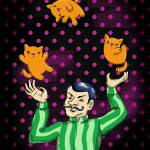 """""""cat-juggling"""" by lisawillis"""