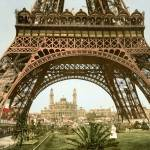 """Eiffel Tower and the Trocadero,1900, Paris, France"" by worldwidearchive"