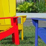 """Red, Yellow, & Blue Chairs @ Park Place, 19 June 2"" by photographybyROEVER"