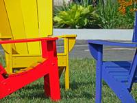 Red, Yellow, & Blue Chairs @ Park Place, 19 June 2