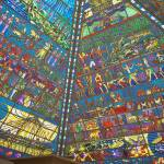 """Stained glass pyramid roof."" by marlenechallis"
