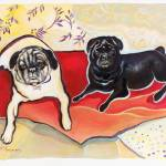 """Pug Painting"" by eyecontact"