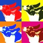 """kaleidoscope Dog"" by whitewallgallery"