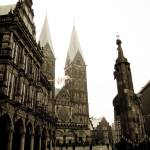 """Old center of Bremen."" by Naumovka"
