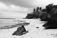 Moalboal Cebu White Sand Beach in Black and White