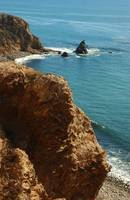 Scenic view of wild beach in Palos Verdes,CA