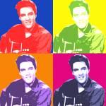"""Elvis Presley Tribute 02"" by whitewallgallery"