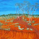 """PLEIN AIR, RED GULLY"" by RoseLangfordPrints"