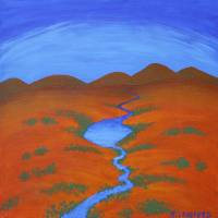 RIVER OF HOPE (Australian Outback) Art Prints & Posters by Rose Langford