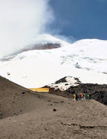 Climbers Nearing Snow Line on Cotopaxi Volcano, Ec