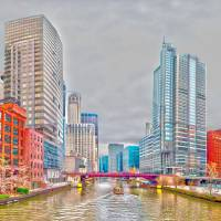 chicago downtown @ river by Alexandr Grichenko